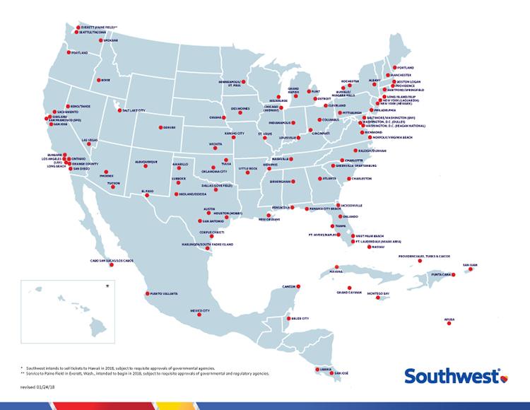 Southwest Travel Map Southwest Flights Map | compressportnederland Southwest Travel Map