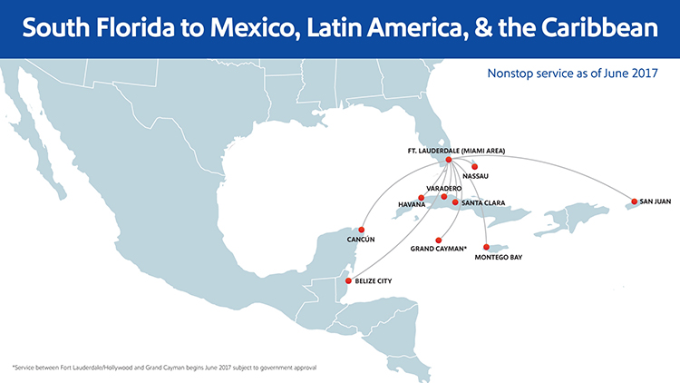 Southwest Airlines Newsroom - Map of flights between us and mexico